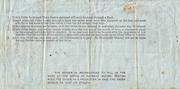 1 Shilling & 6 Pence (Postal Order) – reverse