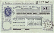 5 Shillings (Postal Order) – obverse