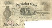 5 Pounds (Darlington Bank) – obverse