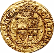 1 Crown - Charles I (Tower mint; 1st bust) -  reverse