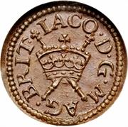 1 Farthing - James I (Harington issue; type 2) – obverse