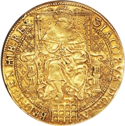 1 Rose-ryal - James I (3rd coinage) – obverse