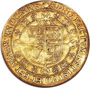 1 Rose-ryal - James I (3rd coinage) – reverse