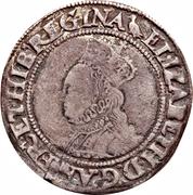 1 Shilling - Elizabeth I (2nd issue) -  obverse
