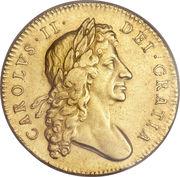 5 Guineas - Charles II -  obverse
