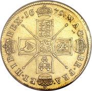 5 Guineas - Charles II -  reverse