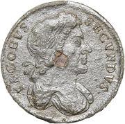 ½ Penny - James II – obverse