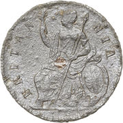 ½ Penny - James II – reverse