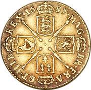 1 Guinea - James II (2nd bust) – reverse