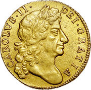 1 Guinea - Charles II (4th bust) – obverse