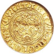 ¼ Noble - Henry VI – reverse