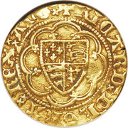 ¼ Noble - Richard II – obverse