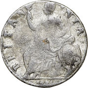 ½ Penny - William & Mary – reverse