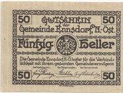 50 Heller (Ennsdorf) – obverse