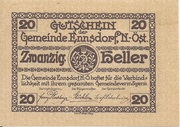 20 Heller (Ennsdorf) – obverse