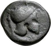 Bronze Æ20 (Campanian mercenaries) – obverse