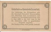 20 Heller (Enzesfeld) -  reverse