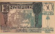 50 Heller (Enzesfeld) – obverse