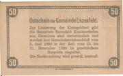 50 Heller (Enzesfeld) – reverse