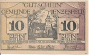 10 Heller (Enzesfeld) – obverse