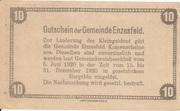 10 Heller (Enzesfeld) – reverse