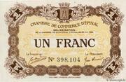 1 Franc - Chambre de Commerce d'Épinal [88] - – obverse