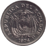1 Sucre (usual design of head) – obverse