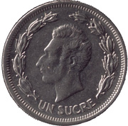 1 Sucre (usual design of head) -  obverse