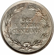 2½ Centavos – reverse