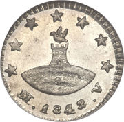 ¼ Real – obverse
