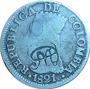 2 Reales (Countermarked Coinage) – obverse