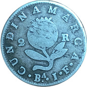 2 Reales (Countermarked Coinage) – reverse