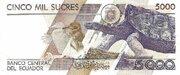 5000  Sucres – reverse
