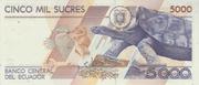 5 000 Sucres -  reverse