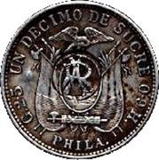 1 Décimo (Galapagos Counterstamp) – reverse