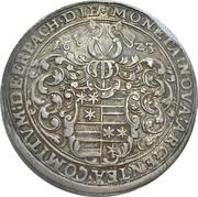1 Thaler - Ludwig II, Johann Kasimir and Georg Albrecht – obverse