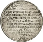 1 Thaler - Gustav Adolph II – reverse