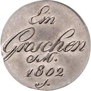 1 Groschen - Friedrich Carl Joseph – reverse