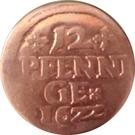 12 Pfennige (Kipper) – reverse