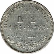 2 Lire - Umberto I – reverse