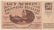 20 Heller (Erlauf im Nibelungengau) – obverse