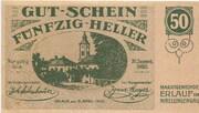50 Heller (Erlauf im Nibelungengau) – obverse