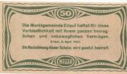 50 Heller (Erlauf im Nibelungengau) – reverse