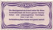 10 Heller (Erlauf im Nibelungengau) – reverse
