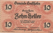 10 Heller (Ernsthofen) – obverse