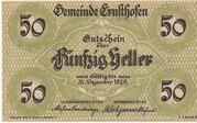 50 Heller (Ernsthofen) – obverse