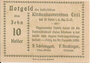 10 Heller (Ertl) – reverse