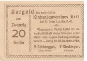20 Heller (Ertl) -  reverse