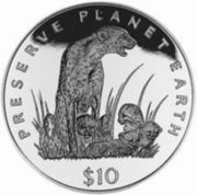 10 Dollars (Cheetah) – reverse