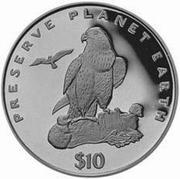 10 Dollars (Laner Falcon) – reverse